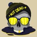 Skull punk star vector design
