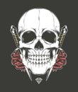 Skull Rose and Dagger