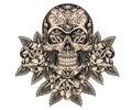 Skull And Roses Illustration