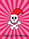 Skull in santa hat Royalty Free Stock Images