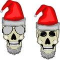 Skull santa Royalty Free Stock Photo