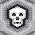Skull seamless geometric pattern in grayscale colors vector background for different designed works Royalty Free Stock Photo