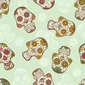 Skull seamless pattern colorful sugar Royalty Free Stock Photo
