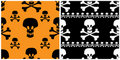 Skull seamless patterns. Stock Photo