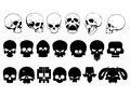 Skull set on white background in vector Royalty Free Stock Photo
