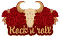 Skull sheep and rock and roll Royalty Free Stock Photo