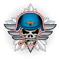 Skull shield Royalty Free Stock Image
