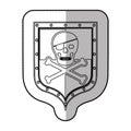 Skull on shield Royalty Free Stock Photo