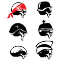 Skull Silhouette Set Royalty Free Stock Photos