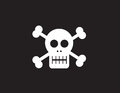 Skull symbol with black background Royalty Free Stock Photography