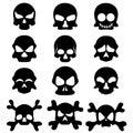 Skull symbol set Royalty Free Stock Photo