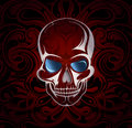 Skull vector illustration with the and mystic backdrop eps Royalty Free Stock Photos