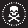 Skull vector illustration original graphic sign Royalty Free Stock Photos