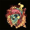 Skull vector illustration for various design needs Royalty Free Stock Photo