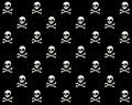 Skull Vector Pattern  Stock Photo