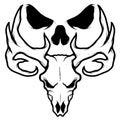 Skull vector poster eps format Stock Images