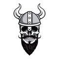 Skull of Viking Warrior Vector Illustration