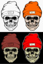 Skull Winter hat Hand Drawing With 4 variation Color