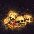 Skulls and bones as conceptual spooky horror halloween image Royalty Free Stock Photo