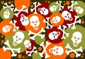 Skulls and bones background Stock Photography
