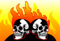 Skulls on Fire Stock Image