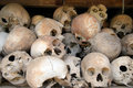 Skulls at the Killing Fields, Cambodia Royalty Free Stock Photo