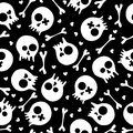 Skulls seamless pattern Royalty Free Stock Images