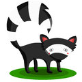 Skunk a simple animal illustration Royalty Free Stock Photo