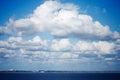 Sky above bournemouth dorset england Royalty Free Stock Photo
