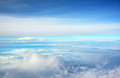 Sky above clouds Royalty Free Stock Photo