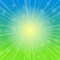 Sky Abstract Background with Rays of Sunshine. Royalty Free Stock Photography