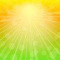 Sky Abstract Background with Rays of Sunshine. Stock Images