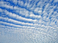 Sky with altocumulus clouds Stock Image