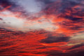 Sky background with red colours Royalty Free Stock Photo
