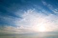Sky background on sunrise nature composition Stock Photos