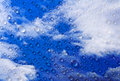 Sky background with water drops clear white clouds and Stock Photography
