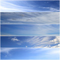 Sky banners set of horizontal Royalty Free Stock Photo