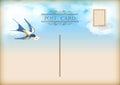 Sky Bird Letter Mail Postcard