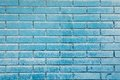 Sky blue brick wall Royalty Free Stock Photo
