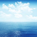 Sky and blue sea Royalty Free Stock Photo
