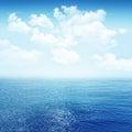 Sky and blue sea Royalty Free Stock Photo