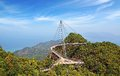 Sky bridge langkawi curved pedestrian cable stayed malaysia Royalty Free Stock Image