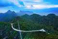 Sky bridge on the mountain,  Panorama langkawi, Malaysia. Stock Photography