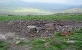 Sky burial ground in gansu Royalty Free Stock Image