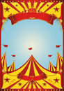 Sky circus big top a vintage poster with a grunge texture Stock Image