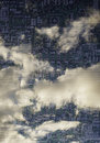 Sky cloud computer circuits concept background Stock Photo