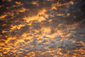 Sky and cloud in evening sunset Royalty Free Stock Photo