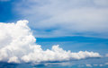 Sky clouds and in blue Stock Image