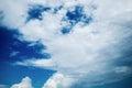 Sky clouds blue Stock Image