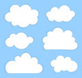 Sky with clouds blue white vector illustration Royalty Free Stock Photos